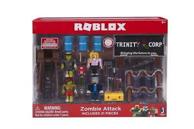 ROBLOX - ZOMBIE Attack - 7 Figures Tool Box Weapons Accessories Playset