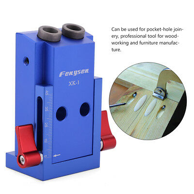 Pocket Hole Screw Jig Kit Drill Guide Woodworking Carpenters Joinery Joint Tool
