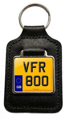 Honda XR 250 Reg Number Plate Leather Keyring Keyfob Gift for XR250 Keys Parts