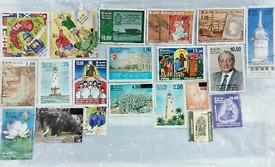 20 Stamps collection Lot Sri Lanka individual used Ceylon stamps rare collection