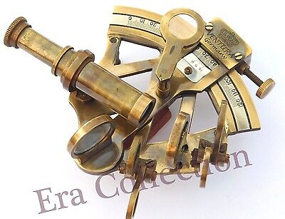 Nautical Solid Brass Marine Sextant Navy Instrument Antique Pocket Decor Gift
