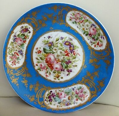 High Quality 19th Century 29 cm Hand Painted Sevres Dish / Charger