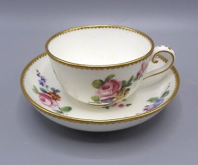Superb 18th Century Sevres Cup and Saucer - Signed Le Bel (III) 1776