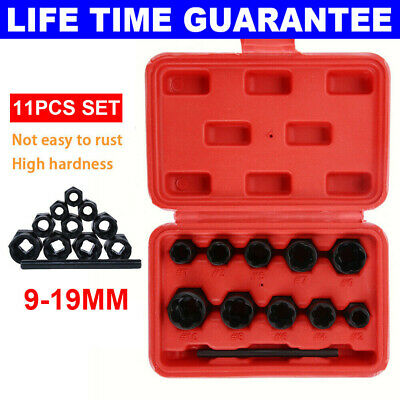 10Pc Grip N Twist Sockets Locking Wheel Nut Remover Damaged Rounded Bolts Ukos