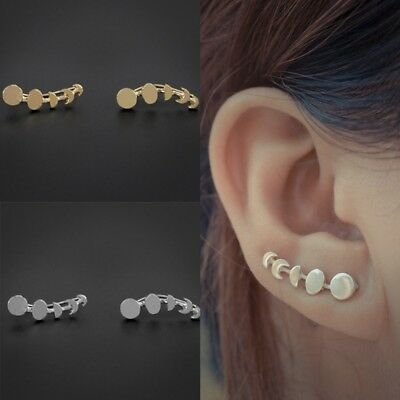Beautiful Moon Phases Ear Climbers Crawlers Cuff Earrings Crescent Fashionable