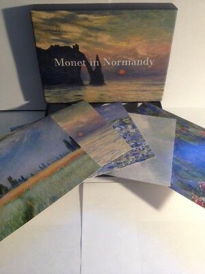 Blank Cards-MONET in Normandy x 9,French Artist,Stationery