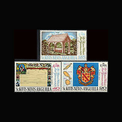 St Kitts Nevis Anguilla, Sc #199-01, MNH, 1969, Coat of Arms, Map, CL155F