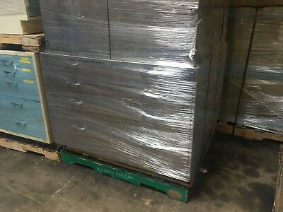 26' of Metal Lab Casework Furniture with Epoxy tops, Gray