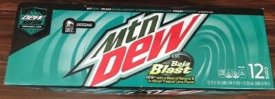 Mountain Dew Baja Blast Taco Bell Limited Edition - 12 pack unopened Exp. 10/18