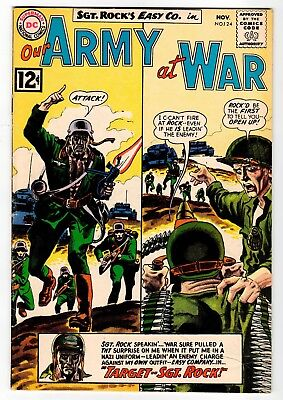 DC - OUR ARMY AT WAR #124 - Kubert Cover & Art - G/VG 1962 Vintage Comic