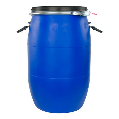 8 Gallon Blue UN Rated Open Head Drum with Lever Lock Lid