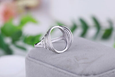 925 Sterling Silver Ring Blank | Retro Detail | 14x16mm Setting