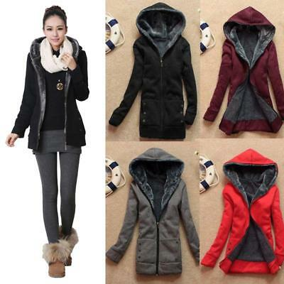 2018 Girls Faux Fur Coat Casual Lining Hooded Hoodies Fleece Jacket Outwear Tops