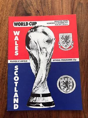Wales V Scotland 1978 World Cup Qualifier Programme Played At Anfield Liverpool