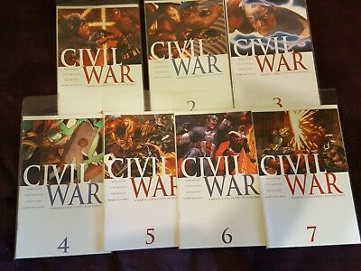 Civil War (2006) 1 2 3 4 5 6 7 Complete Set Mark Millar Steve McNiven Marvel