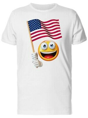 HAPPY EMOJI WITH Usa Flag Men's Tee -Image by Shutterstock