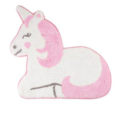 NEW Betty The Unicorn Rug Mat Kids Child's Room Nursery Pink White 100% Cotton