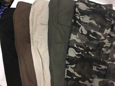 Canyon Creek, Men's Lightweight Twill Cargo Shorts, 5 Colors, Sizes 34-50, NWT