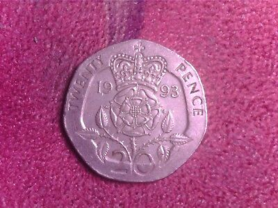 Great Britain   20    Pence  1993   We   Free   Shipping