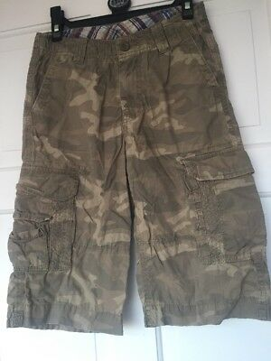 Marks & Spencer 10 Years Boys Cargo Shorts Camouflage Green