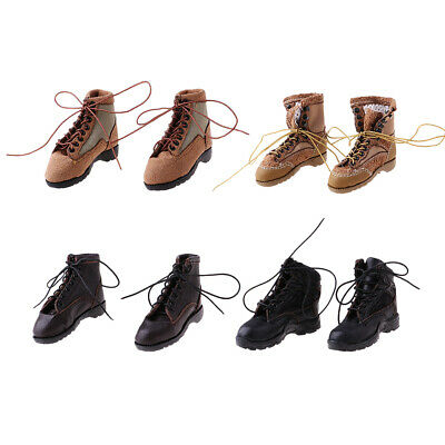 1/6 Scale Men's Soldier Lace Up Boots Shoes for 12'' Side Show Action Figure