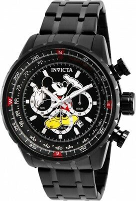 Invicta 26743 Disney Limited Edition Men's 48mm Black Steel Chronograph Watch