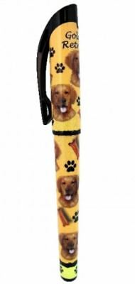 Golden Retriever Gel Pen Refillable Black Gel Ink Dog Gift