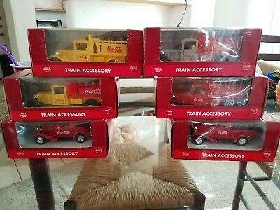 Coca Cola  (Coke) K-Line Train Accessory Trucks - Set of 6 (LARGE COLLECTION)