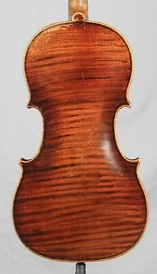 Vintage Old Antique 4/4  Czech Violin  Stunning One Piece Back Strad Copy