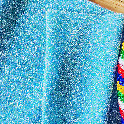e83e0b29227 BLUE LUREX Fabric Stretch Jersey Material Lightweight Metallic Glitter 59''  wide