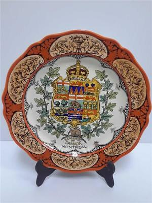 "Wedgewood Etruria 10"" Crested Plate *Dominion of Canada Montreal*"