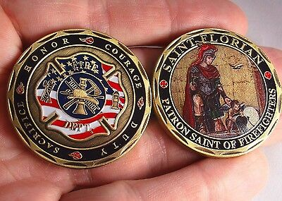 Firefighters Collectible Challenge Coin St. Florian Patron St. of Firefighters