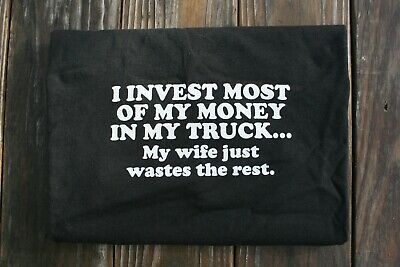 funny FORD TRUCK parody TEE SHIRT diesel POWER STROKE men's black cotton S-3X