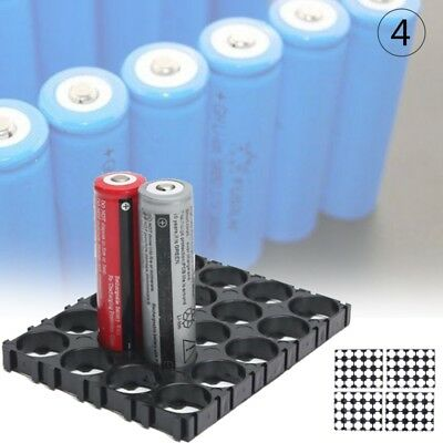 4Pcs 18650 Battery 4x5 Cell Spacer Radiating Shell Pack Plastic Heat Holder A1Q5