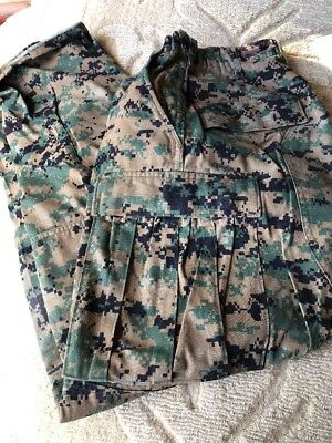 DIGITAL Woodland Camo BDU PANTS  Military US Marine Corps USMC Pants SZ S