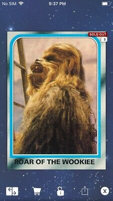 Topps Star Wars Digital Card Trader ESB Selects Roar Of The Wookiee Insert