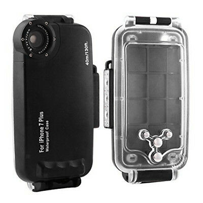 For Apple iPhone 7 Underwater Waterproof Dive Case Housing Transparent Stand