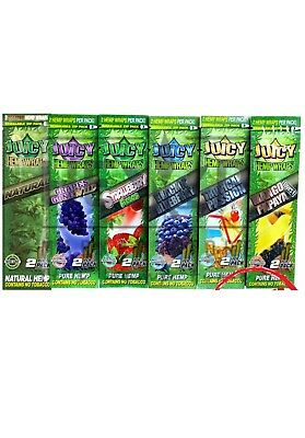 Juicy Jay Hemp Wrap - 6 PACKS - 5+ Flavors Variety U Pick N Choose Mix Match