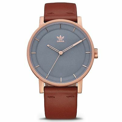 Adidas Originals District L1 Homme Montre - Rose Gold Slate Saddle Une Taille