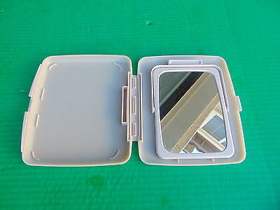 MARY KAY MAKE-UP Mirror Double Dual Sided With Stand In Case (NEW)