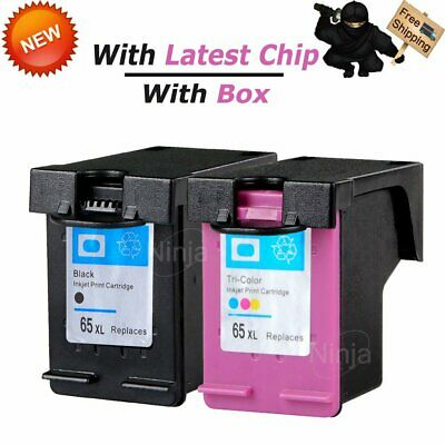For HP 65XL Black & 65 XL Tri-Color Ink Cartridge Combo Pack N9K03AN N9K04AN