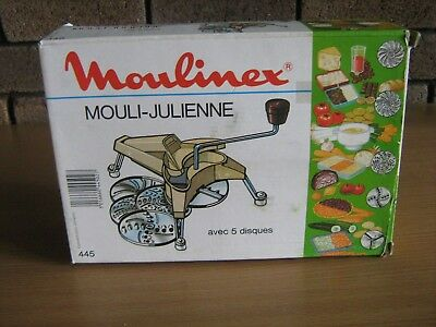 Moulinex Mouli-Juleinne 5 Disc Excellent As New Condition No Rust..