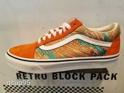 1e15910a68c Vans Old Skool Psychknit Orange White Multi Color Knit Canvas Size 8-13 New