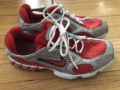 VINTAGE NIKE ZOOM AIR SPIRIDON 2003 RUNNING SHOES SIZE 9 Red SILVER 306549 441