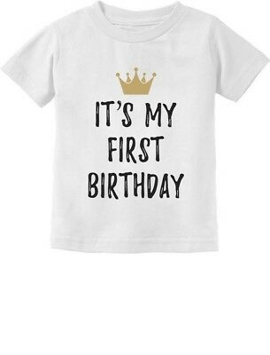 Baby Boy Girl 1st Birthday Gift One Year Old Birthday Crown Infant Kids T-Shirt