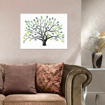 Large Wedding Fingerprint Thumbprint Tree with Painting Inkpad Guest Book
