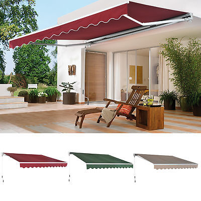 Manual Patio Awning Home Garden Deck Retractable Shade Sun Shelter