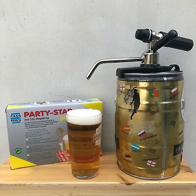 Mini beer keg 5L tap faucet party star deluxe co2 charger home brew