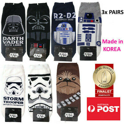 Men's Star Wars Ankle Socks 3x PAIRS FOR $9.99 MADE IN KOREA