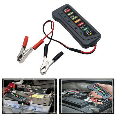 12V Car motorcycle Battery Alternator Load 6 LED Light Battery Tester Digital AU